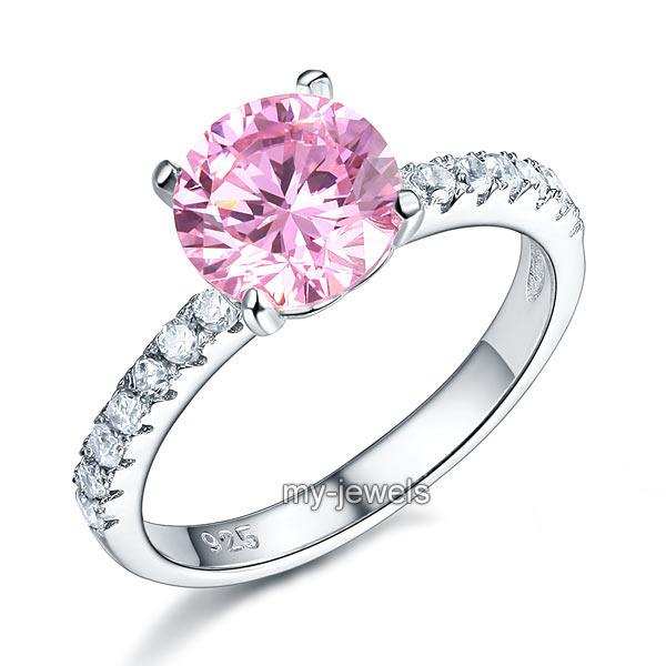 Verlobungsring Set 925 Sterlingsilber Hergestellten Diamanten Ring FR8237