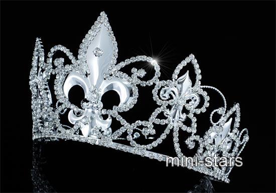 Gold Kreis König Krone Herren Hochzeit Partei kaiserlich Fleur De Lis Silber